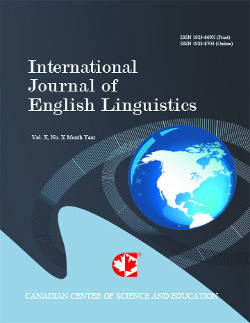 Home International Journal Of English Linguistics Ccse