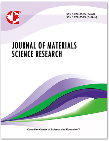 Home | Journal of Materials Science Research | CCSE