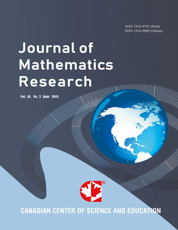 Home | Journal of Mathematics Research | CCSE