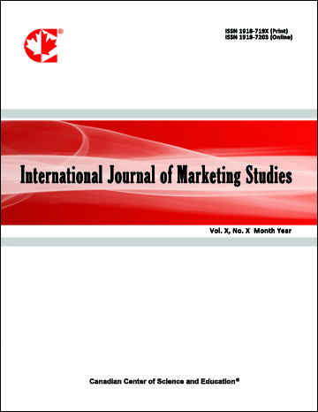 Home International Journal Of Marketing Studies Ccse
