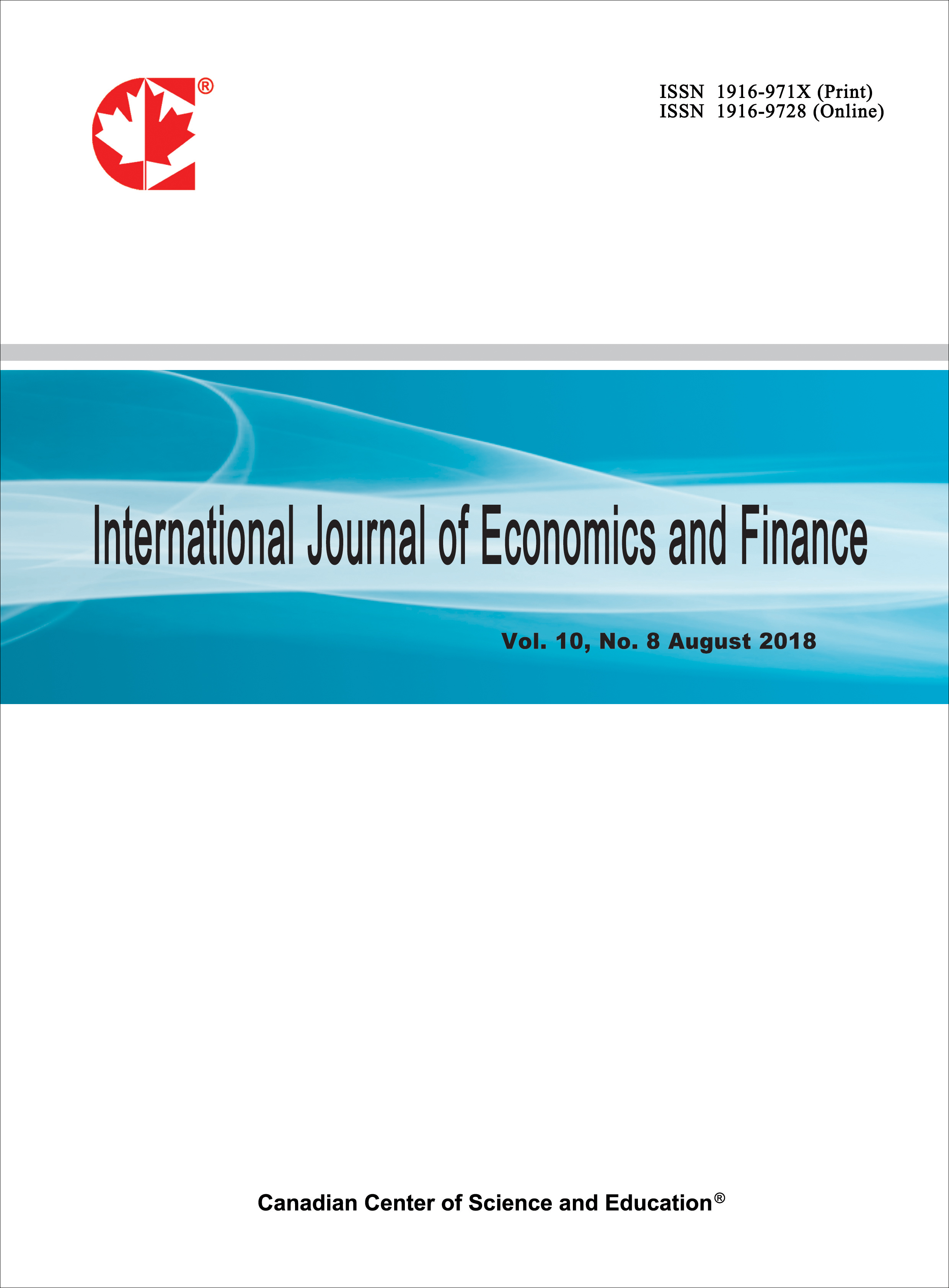 quality design 9eb07 17441 Home   International Journal of Economics and Finance   CCSE