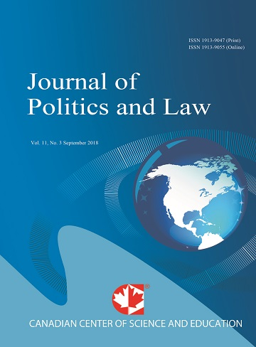 Home | Journal of Politics and Law | CCSE